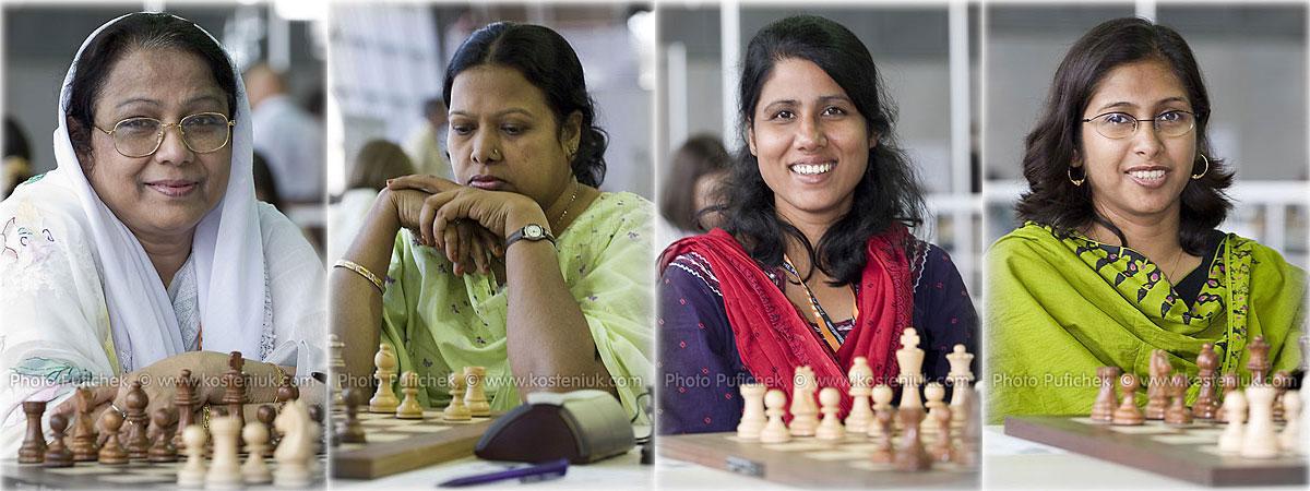 bangladesh Las mujeres también juegan al ajedrez