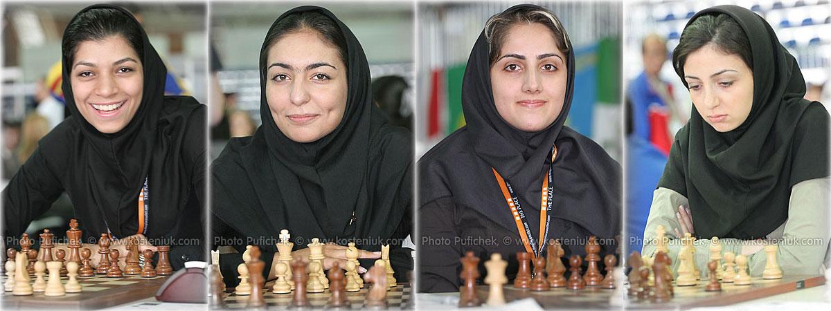 iran Las mujeres también juegan al ajedrez